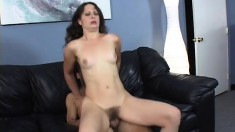 Brunette MILF puts her years of experience to work on a big one