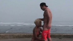 Wild Blonde Sucks A Dick And Gets Her Twat Eaten Out And Fucked Deep On The Beach