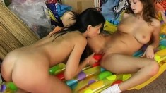 Magnificent teen lesbians find the pleasure they seek with sex toys