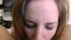 Insatiable Kenzie bends over to have her inviting bunghole plowed