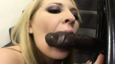 Alisa Zee and Krystal Jordan share Jean Claude Bastiste's black shaft