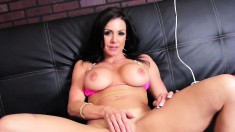 Enchanting milf with perfect boobs and ass Kendra Lust pleases herself