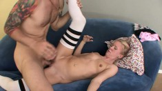Brooklyn Jollie gets turned on and begs to be drilled from behind