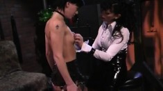 Lesbian Slave Is Getting Tortured And Her Ass Whacked Until It's Red