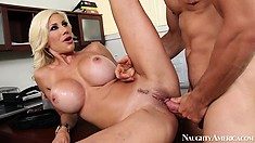 He is working so hard Puma Swede treats his hardness with her body