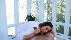 Lustful Masseuse Takes Every Inch Of Black Meat In Her Aching Snatch