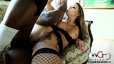 Black cock invades the tight asshole of a cream-skinned honey