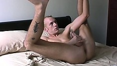 This slutty twink plays with his gorgeous cock whenever he can