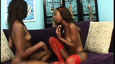 Taylor makes Hydie cum from licking her tits and fingering her pussy
