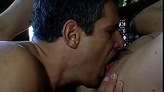 Latin cutie wants to get her uber-tight pussy stretched just a little