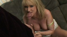 Insatiable blonde housewife fucks a hung stud in front of her husband