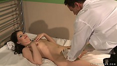 She Goes In For A Gyno Exam And He Starts Spanking Her As All Goes Wrong