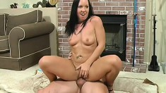 A cock starved slut bends over to take a big one from behind