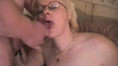 Lovely grandma gives into temptation and fucks a younger hunk