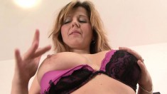 Mature blonde housewife gets herself a piece of dark meat to play