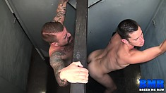 Sexy guy loves to have his gay lover fucking his anal hole from behind