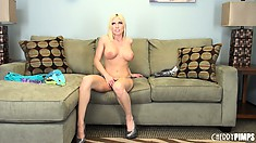 Appetizing molly Christie Stevens is in mood of filming intricate scenes