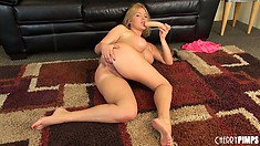 Krissy Lynn likes fucking her twat with her sex toys and playing with her tattas