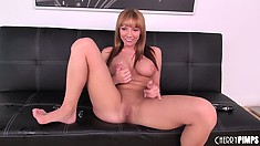 Maya slides a big dick down her throat eager to have it invading her pussy