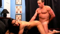 Two attractive gay buddies getting naughty and nasty in the bedroom