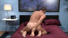 Sexy Guy Moans And Grunts While Using A Fake Cock On His Ass