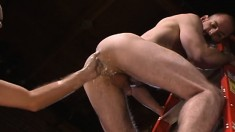 Hot Guy Enjoys Groaning While Having His Ass Stretched With A Fist