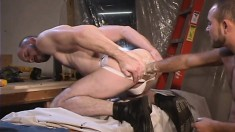 Horny Guy In A Jockstrap Wants To Feel A Fist In His Butthole