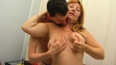 Redhead Mature Hardcore On Couch