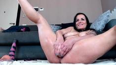 Kinky milf redheads anal solo dildo masturbation