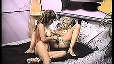 Naughty amateur pussies try out some lesbian twat loving and toying
