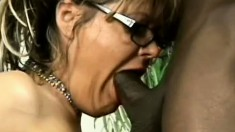 Feisty MILF with a great rack needs some dark meat in her cunt