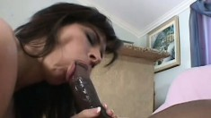 Dirty sexy MILF has an insatiable craving for stiff dark meat